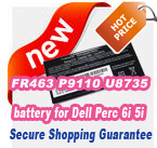 FR463 P9110 U8735 NU209 FR345 battery for Dell Perc 6i 5i Series